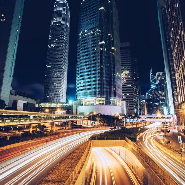digitalisierung, highway, lichter